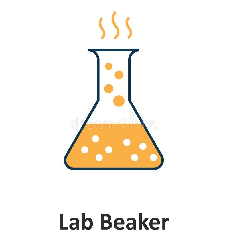 量杯烧杯被隔绝的和技术的传染媒介象 向量例证
