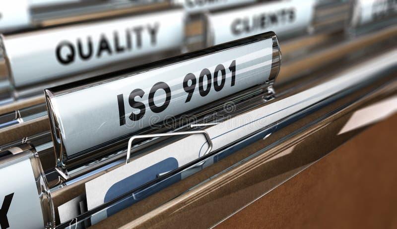 质量标准ISO 9001 皇族释放例证