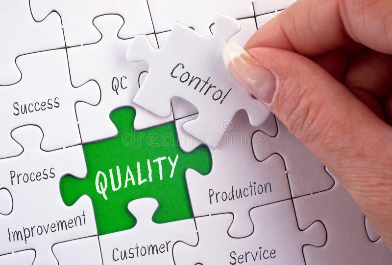 质量管理-有企业难题的女性手 库存图片