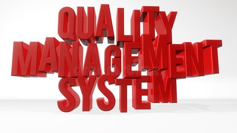 质量管理系统 皇族释放例证