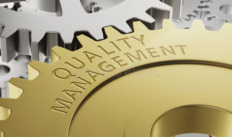 质量管理- 3d回报 向量例证