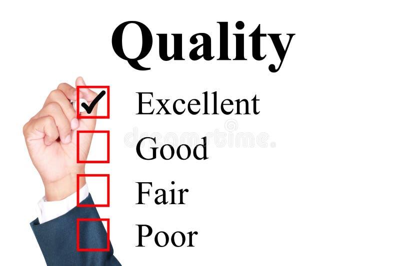 质量评价形式 皇族释放例证