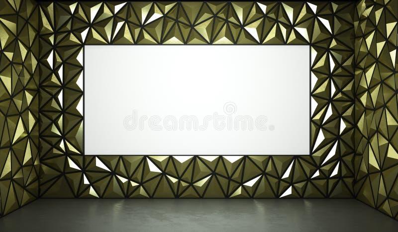 金与空间的表面背景抽象3d翻译为 皇族释放例证