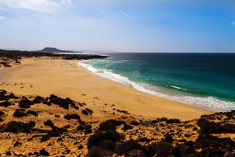 金丝雀热带天堂海滩  库存图片