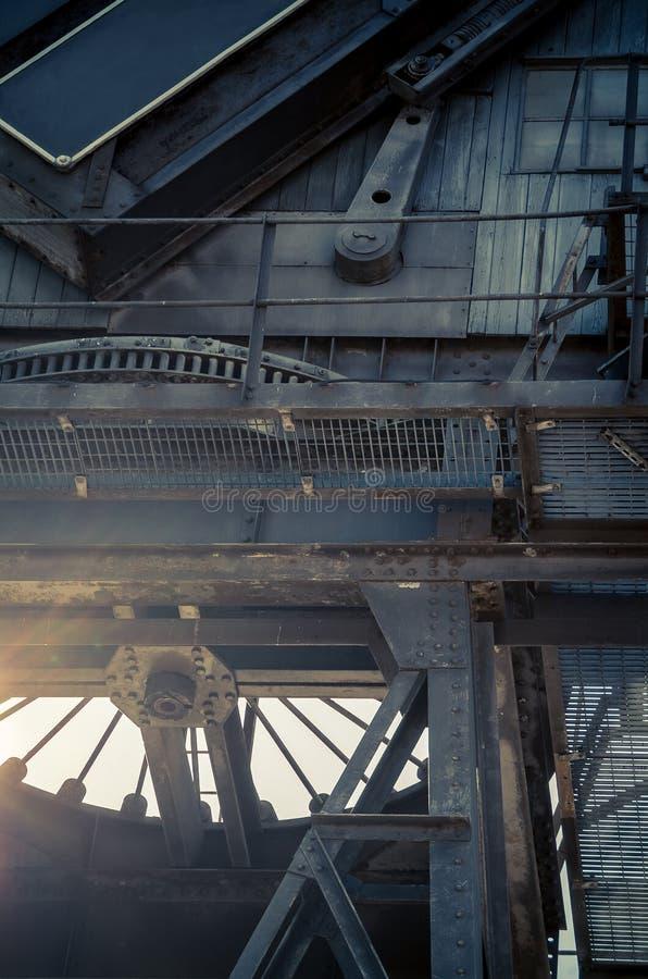 金丝雀码头起重机 免版税库存图片