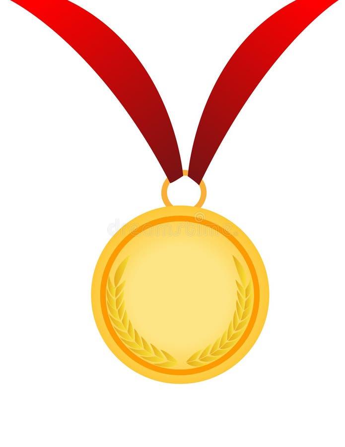 金例证奖牌向量 皇族释放例证