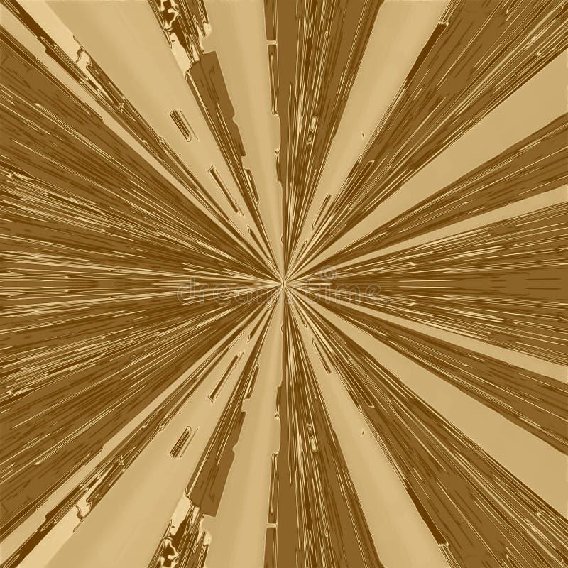 金光芒背景和发光的射线纹理,墙纸背景 皇族释放例证