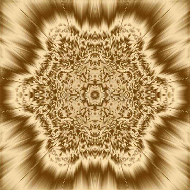 金光芒背景和发光的射线纹理,金属背景 库存例证