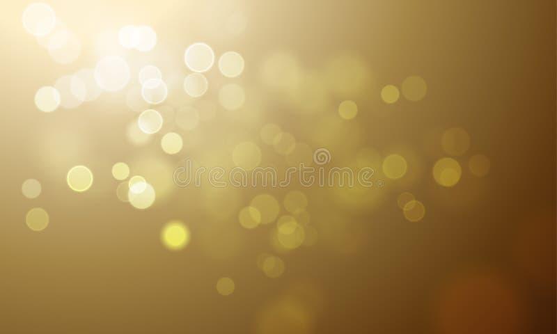 金光迷离闪烁或闪耀的defocused传染媒介背景 皇族释放例证