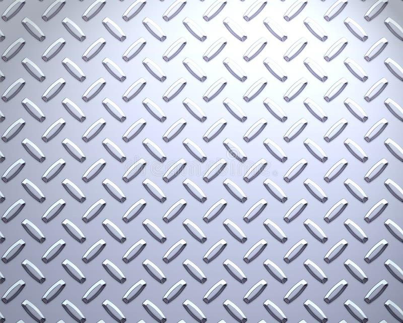 金刚石严格牌照的钢 向量例证
