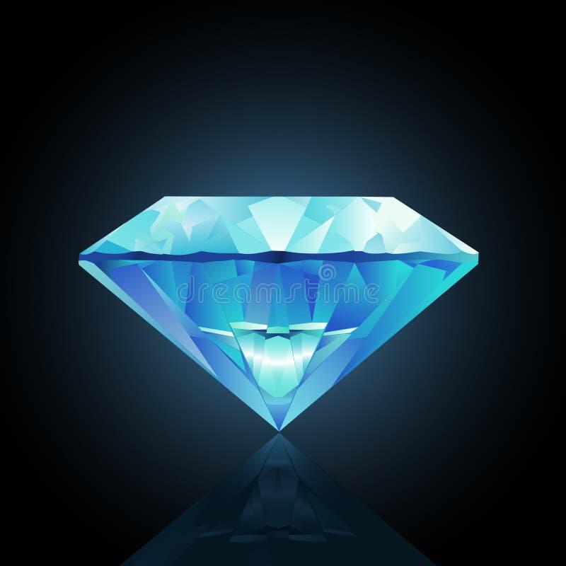 金刚石例证向量 库存例证