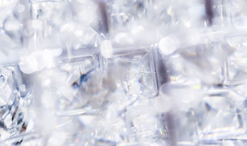 金刚石和水晶,豪华织地不很细背景 免版税库存图片