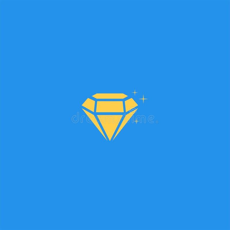 金刚石商标设计 皇族释放例证