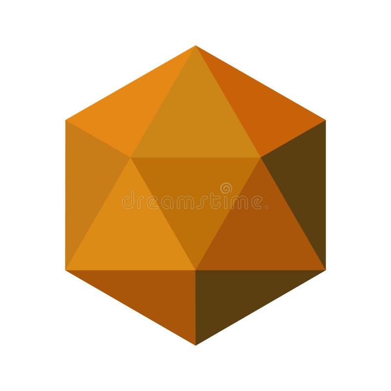 金刚石在一个平的样式的传染媒介例证 库存例证