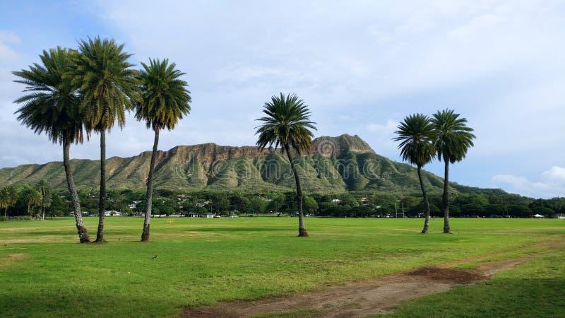 金刚石夏威夷顶头奥阿胡岛 免版税库存照片