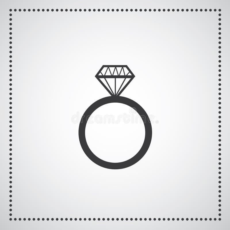 金刚石定婚戒指 库存例证