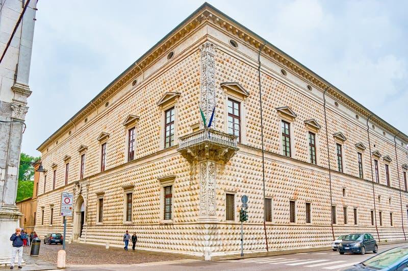 金刚石宫殿在费拉拉,意大利 免版税库存图片