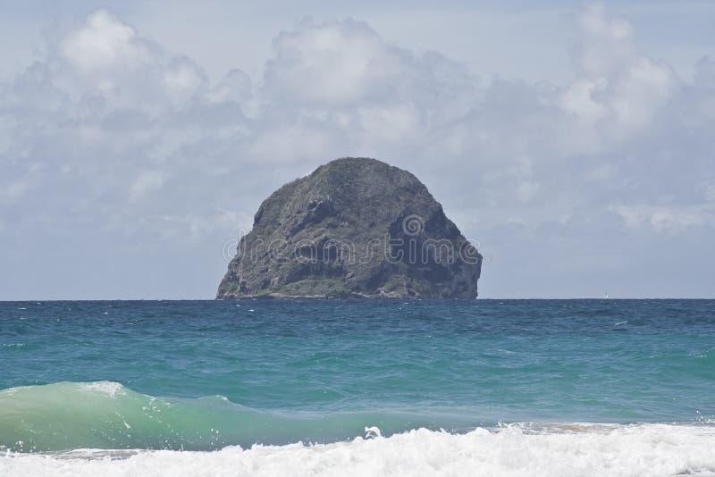 le Diamant在马提尼克岛 免版税库存照片