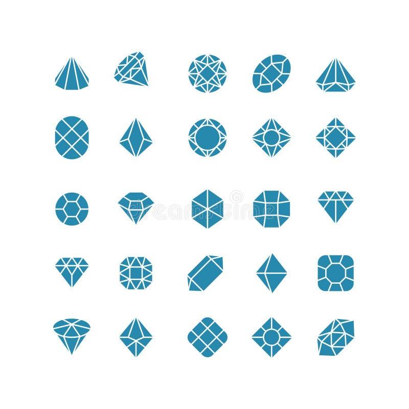 金刚石抽象象 昂贵的首饰传染媒介标志 向量例证