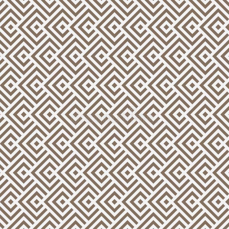金刚石方形的形状交叠其中每一,传染媒介样式背景 库存例证