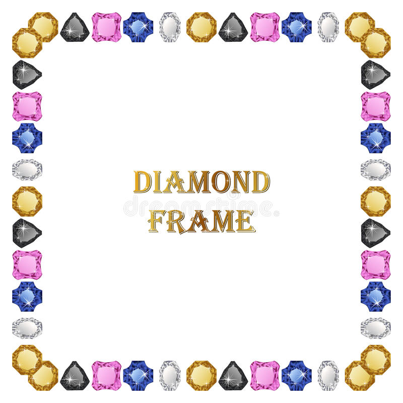 Download 金刚石方形的框架 向量例证. 插画 包括有 消耗大, 红宝石, 豪华, 艺术, 国界的, 珍贵, 形状, 对象 - 72355944