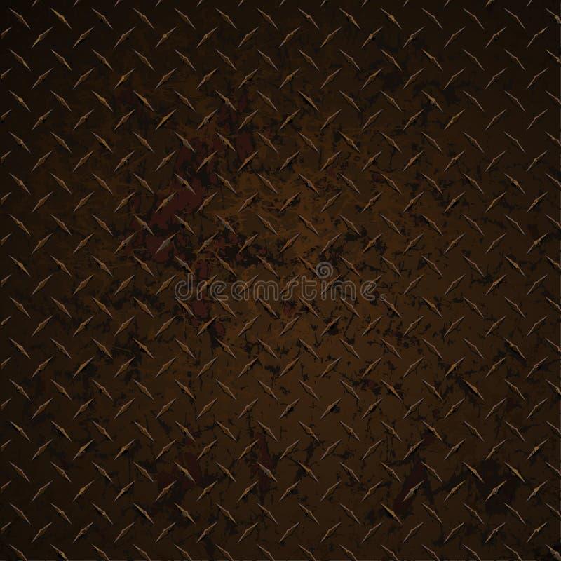 金刚石板材生锈的困厄的被腐蚀的现实向量图形例证 皇族释放例证