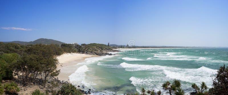 金刚石海滩澳大利亚全景 免版税库存图片