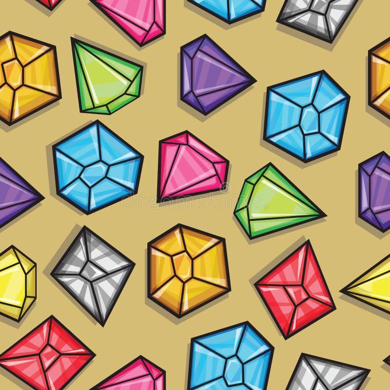 金刚石的传染媒介无缝的样式 库存例证