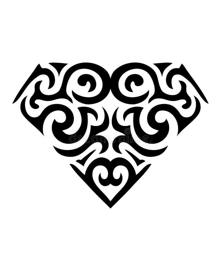 金刚石符号纹身花刺 免版税库存图片