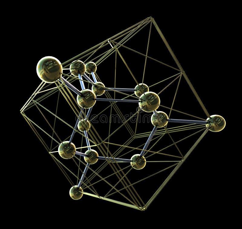金刚石箱子水晶结构  库存图片