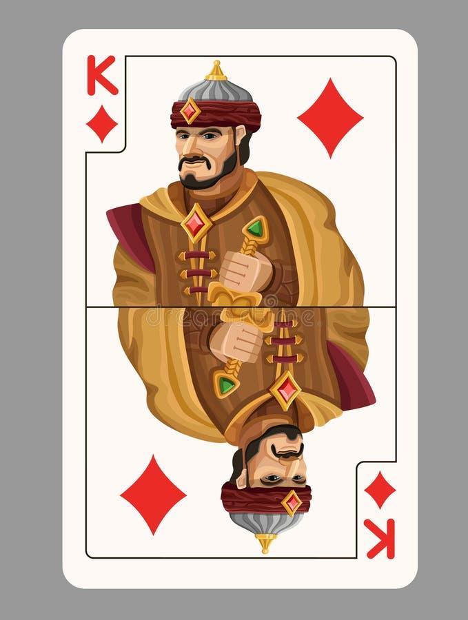 金刚石纸牌的国王 皇族释放例证