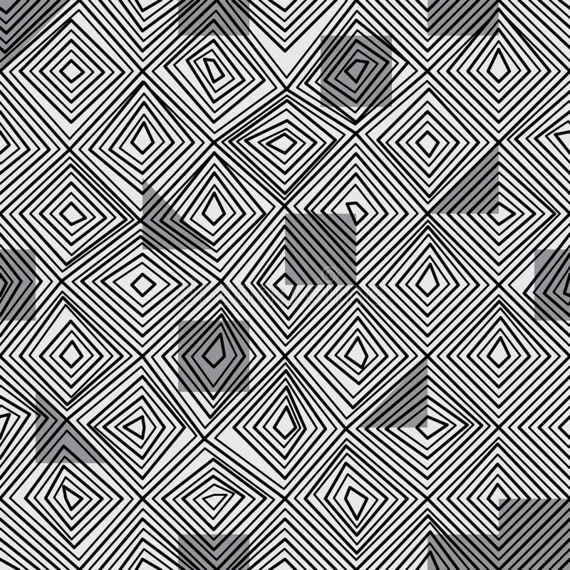 金刚石线黑色颜色无缝的样式 皇族释放例证