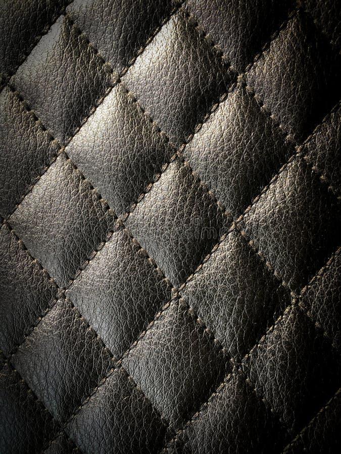 金刚石缝了皮革设计师背景 免版税图库摄影