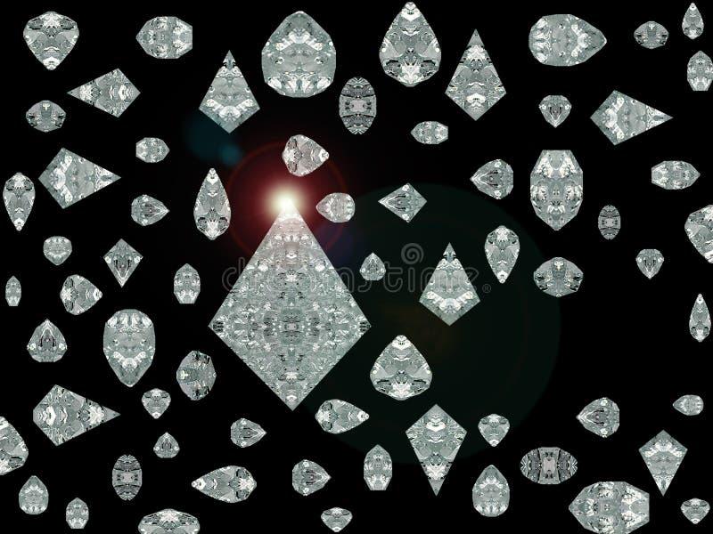 金刚石被模拟的火光透镜 库存图片