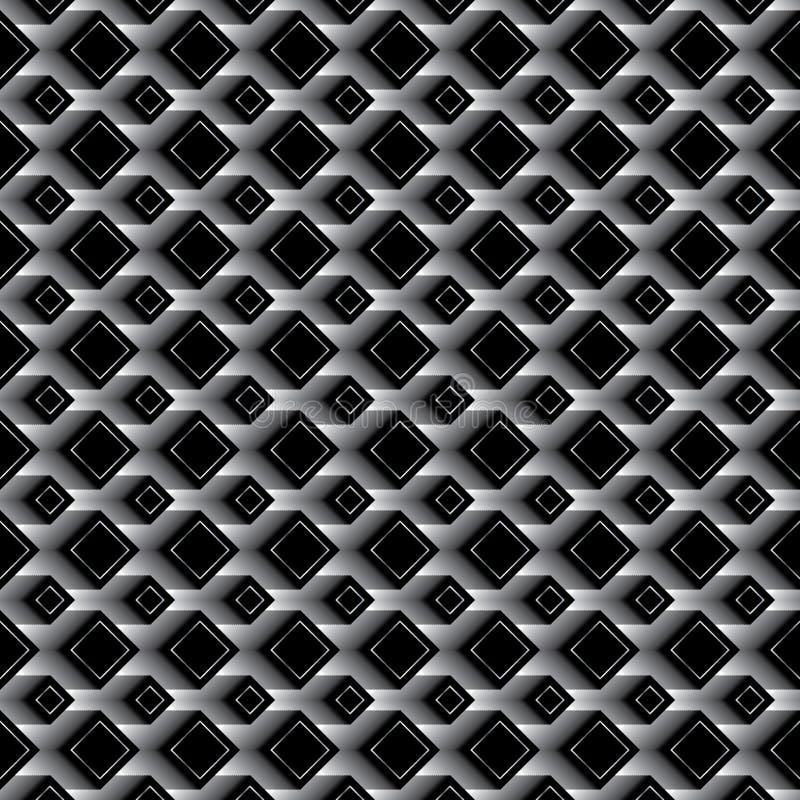 金刚石黑作用无缝的样式 库存例证