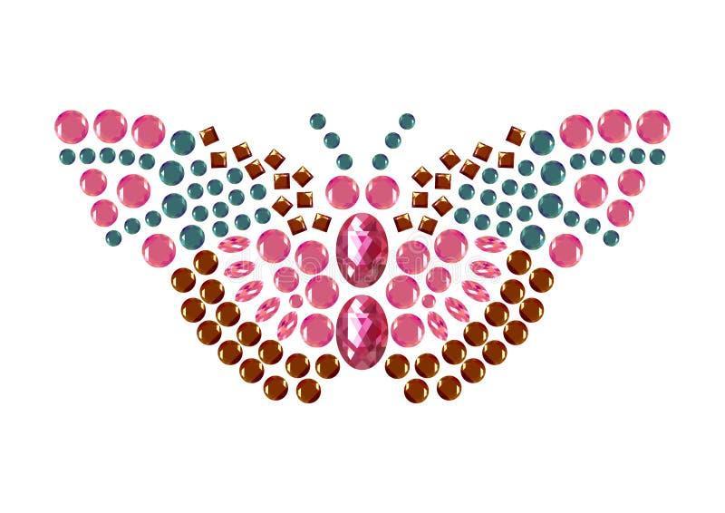 金刚石蝴蝶,首饰动物被隔绝的传染媒介 向量例证