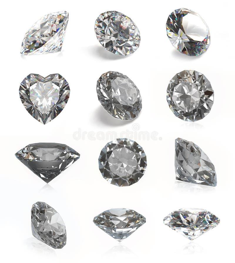 金刚石 向量例证