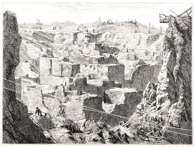 金刚石diggings在Kimberley,南非 库存例证