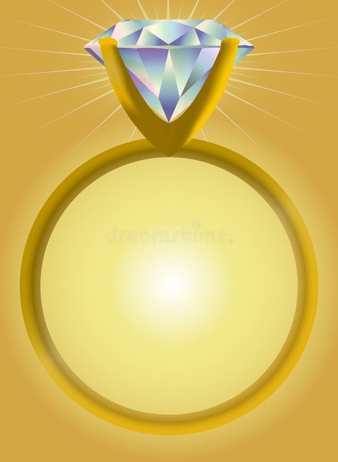 金刚石eps环形单粒宝石 向量例证