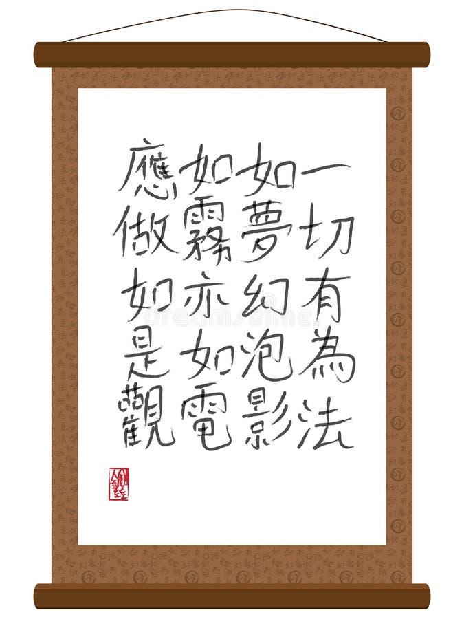 金刚石Sutra纸卷 向量例证