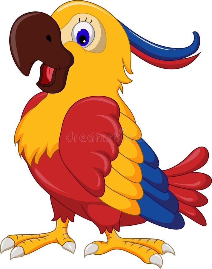 金刚鹦鹉翼鸟动画片 皇族释放例证