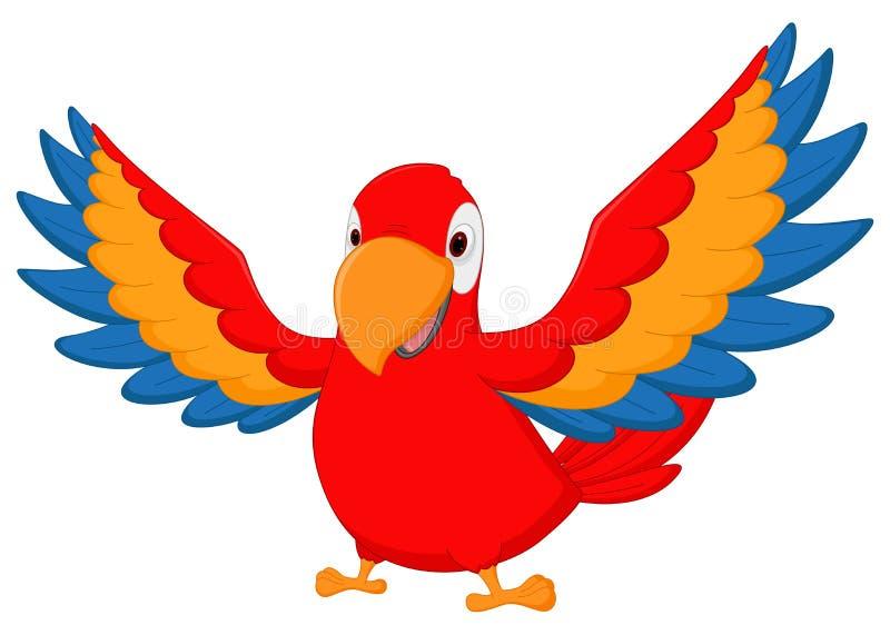 金刚鹦鹉鸟动画片挥动 库存例证