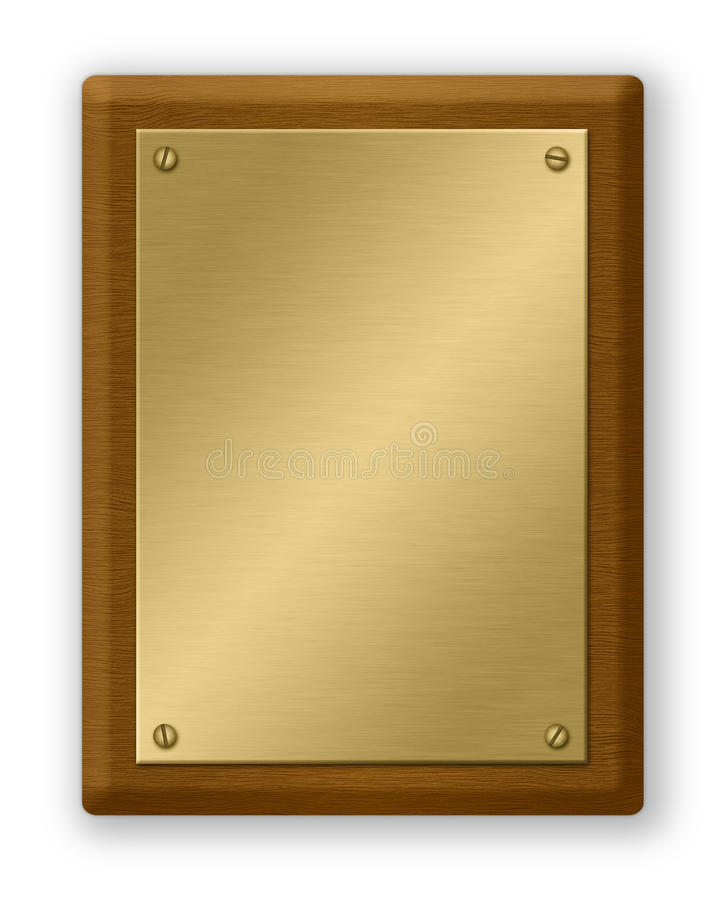 金匾木头 向量例证
