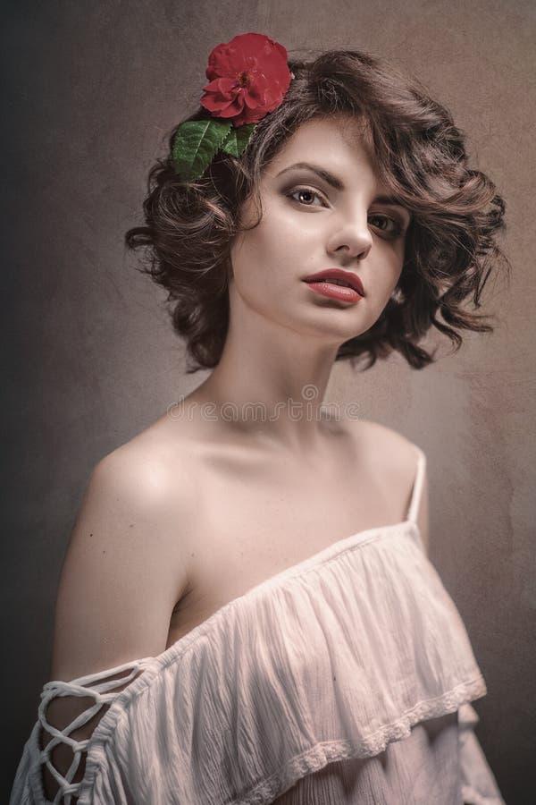 金发美女时尚女性肖像 库存图片