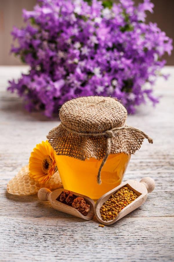 金合欢蜂蜜 免版税图库摄影