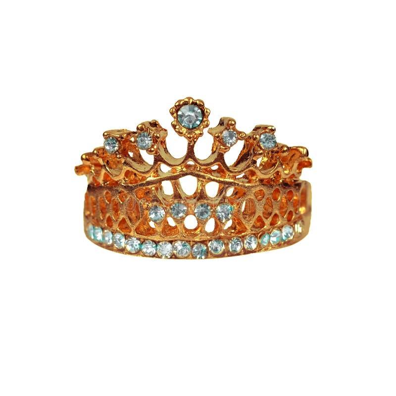金和珠宝在被隔绝的白色背景的国王的冠 库存图片