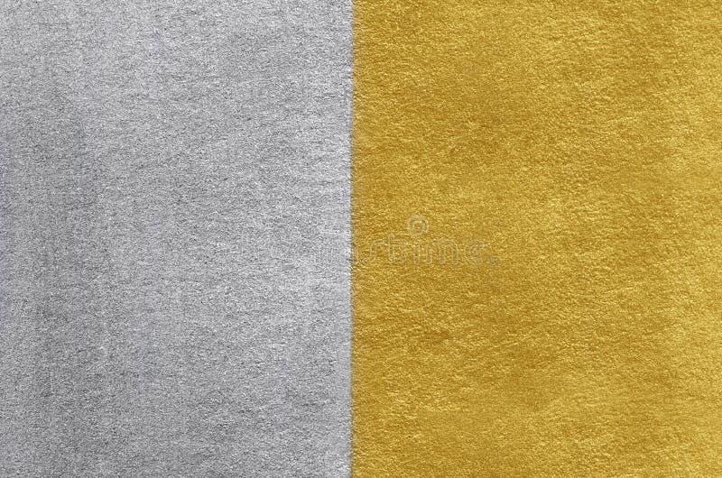 金和银箔纹理 金黄抽象的背景 库存图片