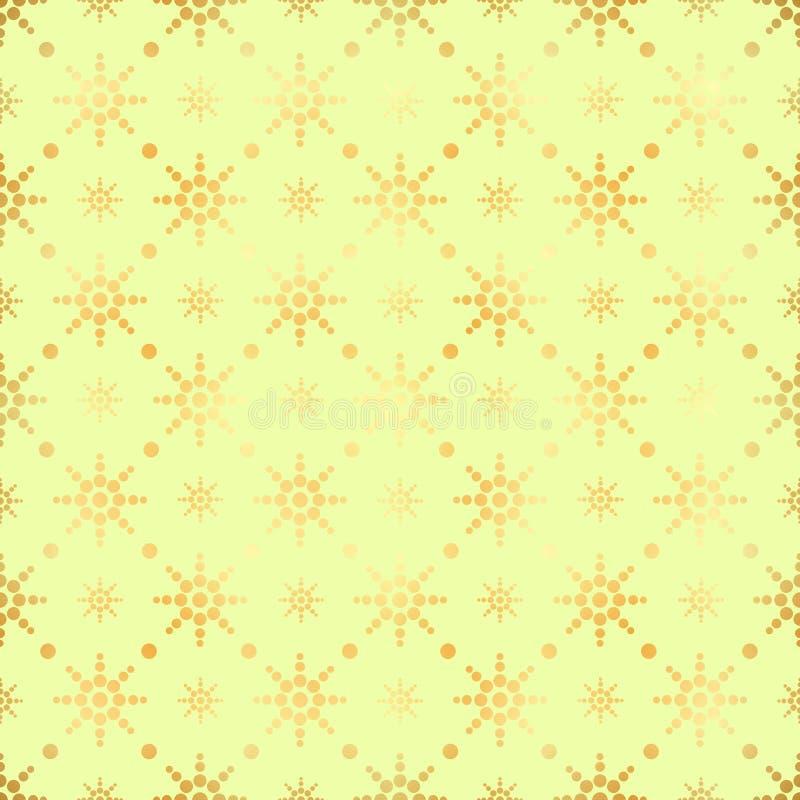 金圈子无缝的样式 抽象金几何现代背景 金箔纹理  艺术装饰样式 库存例证