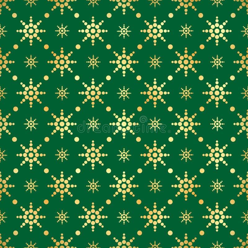 金圈子无缝的样式 抽象金几何现代背景 金箔纹理  艺术装饰样式 皇族释放例证