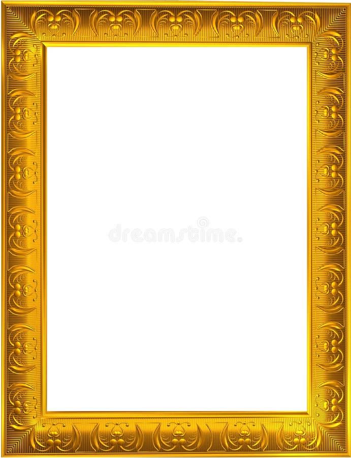 金照片框架 免版税库存照片